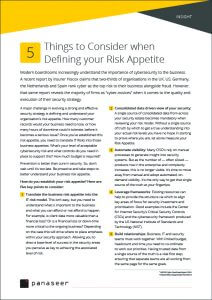 INSIGHT 5 things to consider for Risk Appetite