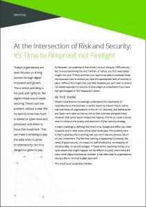 Briefing: At the Intersection of Risk and Security