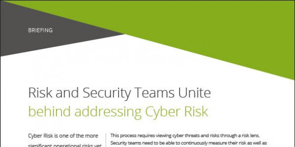 Briefing: Risk and Security Teams Unite To Address Cyber Risk