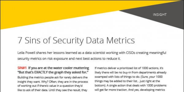Insight: 7 Sins of Security Data Metrics