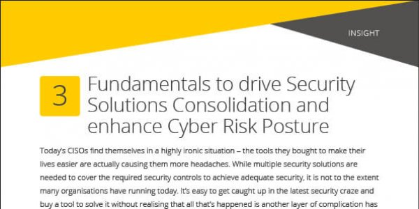 Insight: 3 Core Principles Of Consolidating Security Solutions