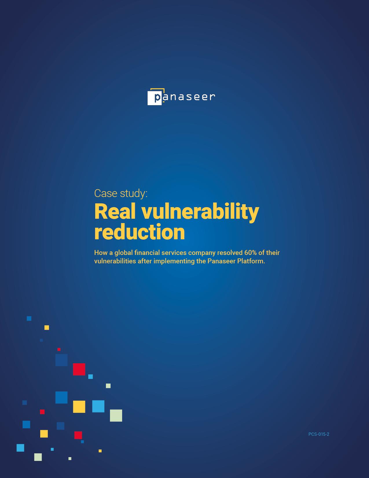Vulnerability Reduction Case Study