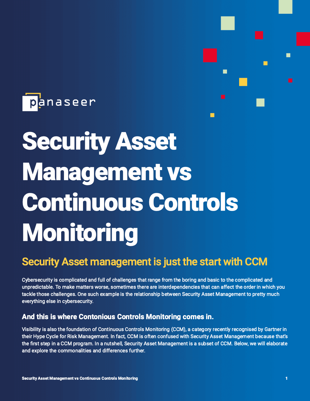 Security Asset Management vs Continuous Controls Monitoring