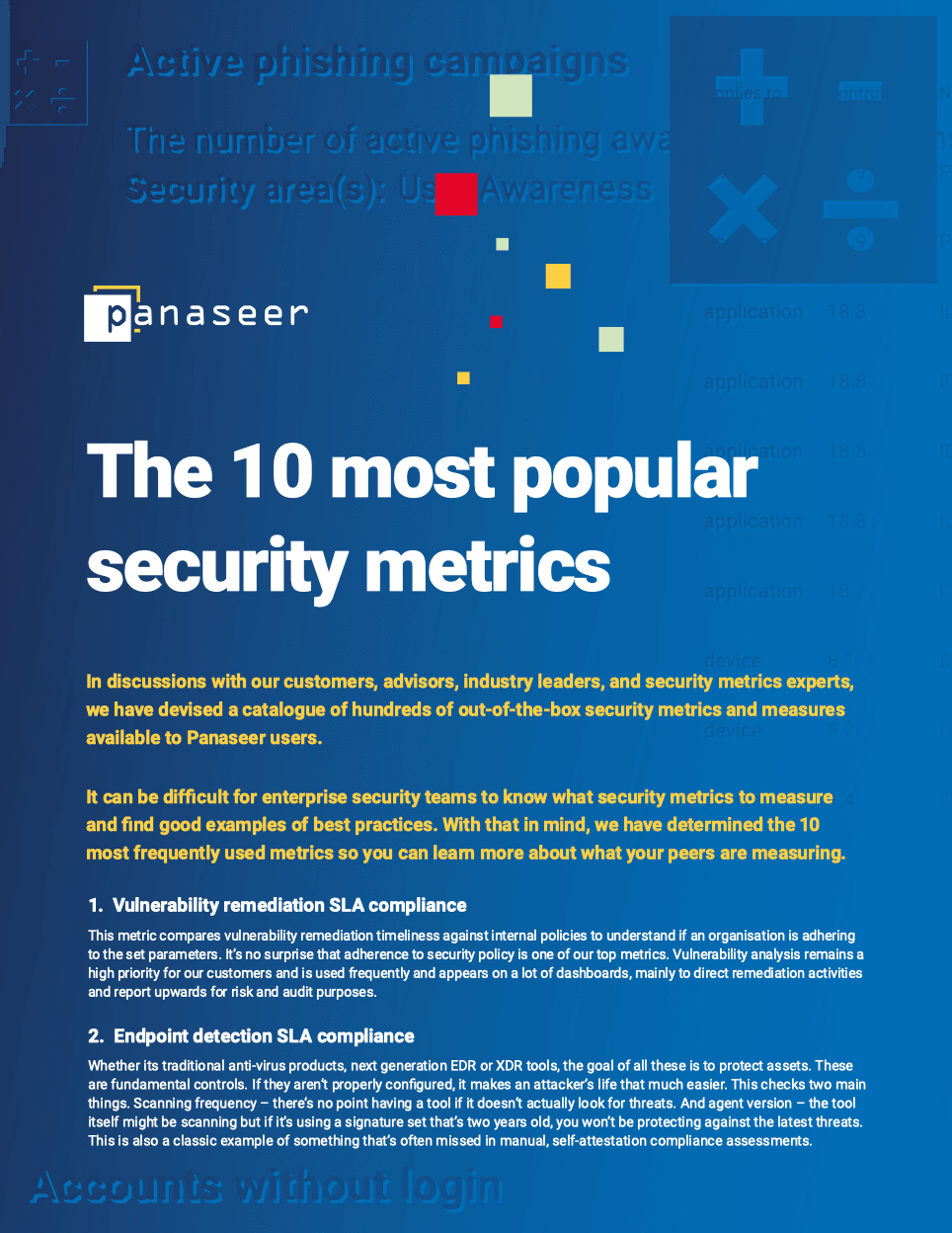 The 10 most popular security metrics