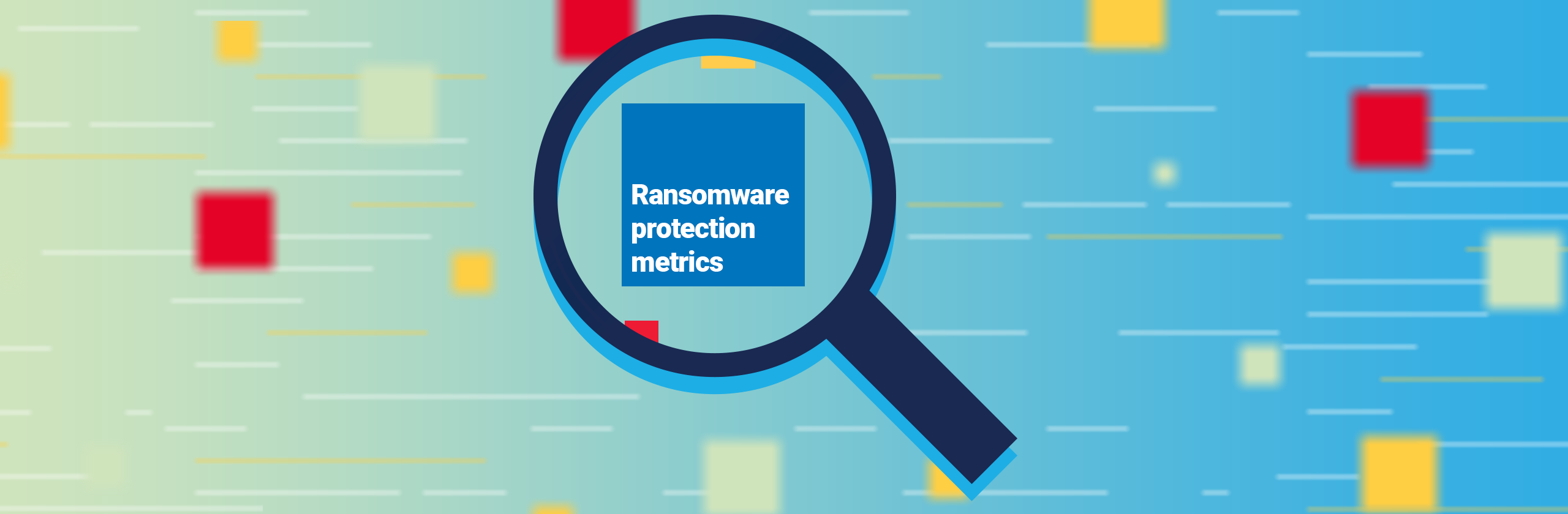 Ransomware protection metrics banner