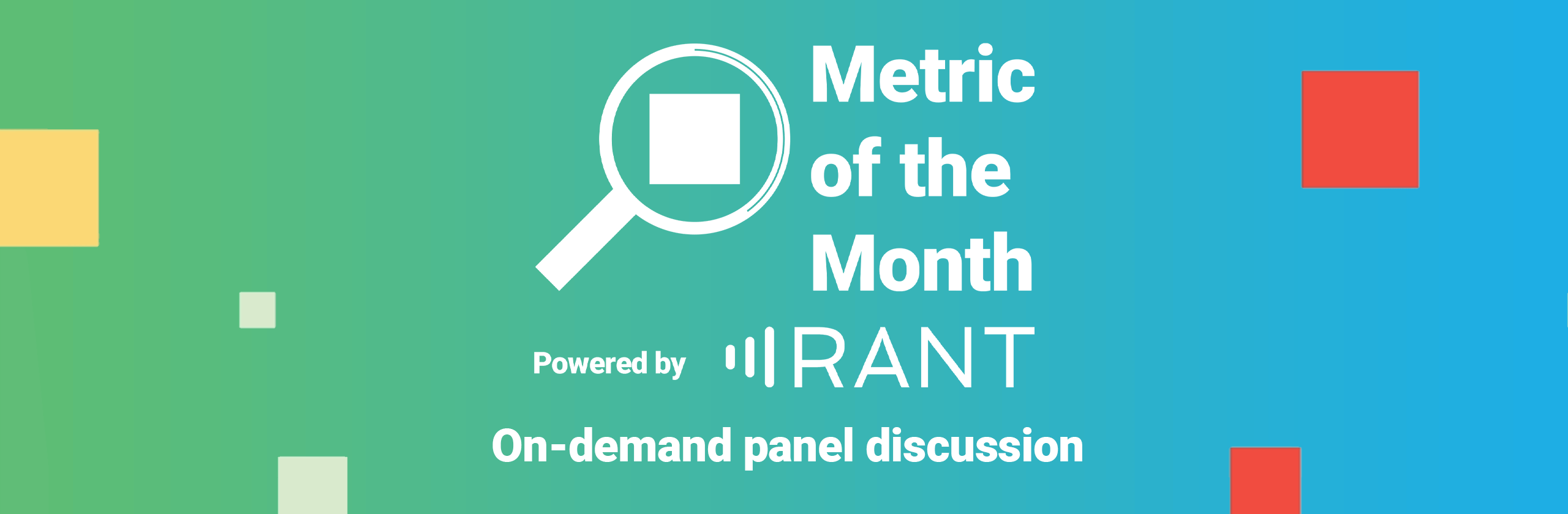 Metric of the Month on-demand panel discussion banner